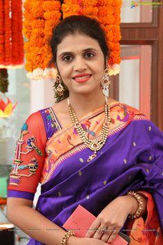 Discover thousands of images about Orange Saree Blouse Patterns, Saree Blouse Designs, Blouse Styles, Indian Blouse, Indian Sarees, Indian Wear, Diana, Choli Dress, Sari Design