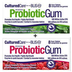 Culturedcare Oral Probiotic Blis-K12 -2 Packs Gum X 8 Pieces (One Each)
