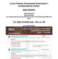 Curso-Talleres: Presupuesto Empresarial // Contabilidad de Costos. - Publicidad