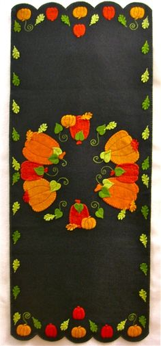Pumpkin Patch Candle Mat Table Runner (ALL PRECUT) Love this seasonal Penny Rug kit from Annelle's Originals!