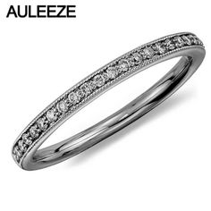 Vintage Gothic Royal Palace Wedding Band 14K White Gold Engagement Ring For Women Moissanites Lab Grown Diamond Enternal Ring