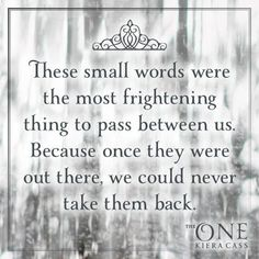 Quote from THE ONE by Kiera Cass