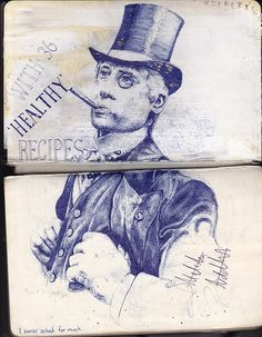 markpowellart by mark powell bic biro drawings, via Flickr