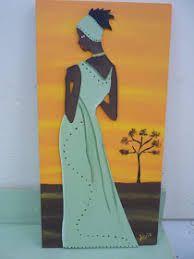 Resultado de imagen para africanas en fibrofacil pintadas