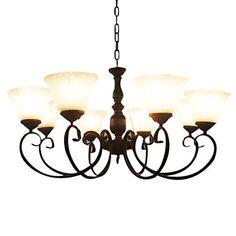 jern lysekrone med 5 lamper i antik stil – DKK kr. 1.178