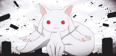 Ladies and Gentleman, y may now present you, The Evil Itself. Kyubey <<< With his majestic tail and never-changing expression.