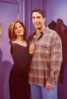 """"""" Ross Geller, played by David Schwimmer, and Rachel Green, played by Jennifer Aniston, were a great TV couple Friends Tv Show, Serie Friends, Friends Cast, Friends In Love, Friends Moments, Special Friends, Ross Geller, Rachel Green, Phoebe Buffay"""