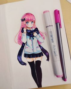 """11.7k Likes, 158 Comments - Meiriri Vega (@meiririh) on Instagram: """"Quick drawing just cause I wanted to colour pink hair i want my hair pink tbh Have a nice day!…"""""""