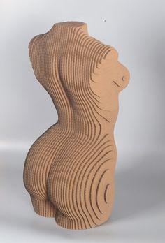 Sliced Woman Torso DIY Cardboard Craft by boardattack on Etsy