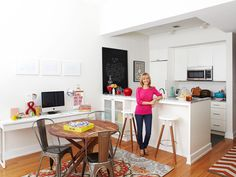 "Kelsey Nixon's Kitchen : When Kelsey Nixon and her husband, Robby, moved into their Brooklyn apartment last year, they felt they had hit the big time. ""We came from a 500-square-foot third-floor walk-up in Manhattan,"" says the Cooking Channel host. But now they have a doorman, an elevator and enough space so Kelsey can work from home. ""I'm here all day. I wrote a cookbook here, I test recipes here,"" she says, all with her son, Oliver, 11 months, at her side."