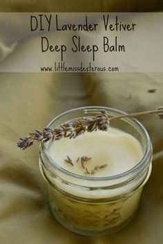 Do you feel like you can't fall asleep at night?This VERY simple DIY Lavender Vetiver Deep Sleep Balm can have you snoring in no time! It is SO easy to make Herbal Remedies, Natural Remedies, Natural Treatments, Snoring Remedies, Insomnia Remedies, Sleep Remedies, Health Remedies, Lavender For Sleep, Lavender Care