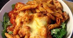 Vicki-Kitchen: Italian chicken pasta bake (slimming world friendly) Italian Chicken Pasta, Chicken Pasta Bake, Chicken Meals, Chicken Bacon, Easy Cooking, Cooking Recipes, Healthy Recipes, Healthy Options, Making Hamburger Patties