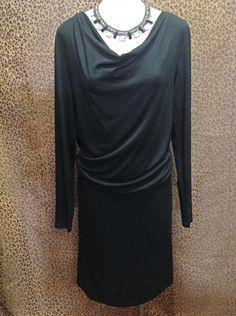 Glamorous in Black  - Long sleeve black dress - $115