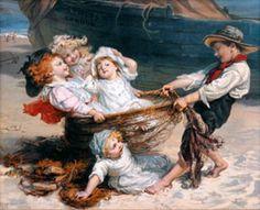The Catch-Frederick Morgan (1847 – 1927, English)