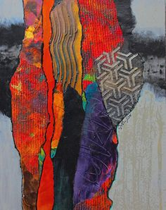 Tribal Gathering, 111717 by Carol Nelson mixed media ~ 12 inches x 9 inches