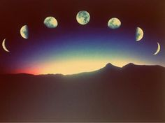 The moon always cycled to appear full once a month, continuing for thousands of years. But when the moon appeared, in all stages, across the rainbow sky, it spelled out one word:
