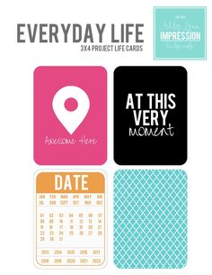 Printable || Everyday Life PL Filler Cards