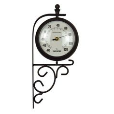 Amazon.com : Luster Leaf Evesham 20054 Clock and Thermometer : Outdoor Clocks : Patio, Lawn & Garden