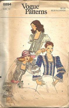 1970s Peasant Boho Hippie Renaissance Fair Blouse by kinseysue