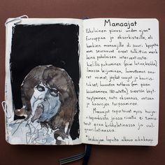 From sketchbook of Petri Fills #sketchbook #drawing #manaaja #historia