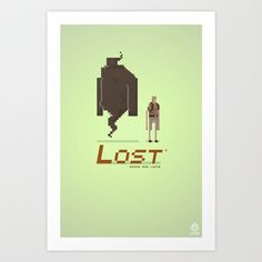 Pixel Art Lost Art Print by LoweakGraph - $18.00