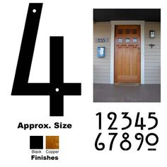 Craftsman Style House Numbers