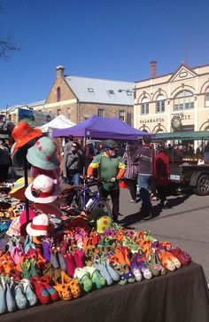 The Salamanca markets in Hobart. Source: Tourism Tasmania
