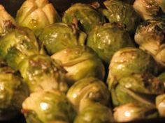 Brussel Sprouts roasting in butter- MMMMmmmmmmm xxx