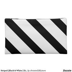 Keep your lipstick & eyeliner safe with a new Black cosmetic bags from Zazzle. Unrivaled designs transform these makeup bags. Makeup Bags, Folded Up, Cosmetic Bag, Cosmetics, Black And White, Makeup Pouch, Make Up Bags, Black N White, Black White