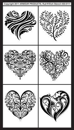 Glass etching or engraving patterns.
