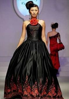 blackred wedding dress  VIA: Kazukotnewman