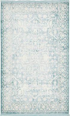 Light Blue 5' x 8' New Vintage Rug | Area Rugs | eSaleRugs