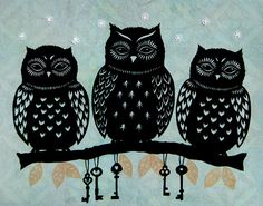 I adore this artist. She is a Lawrence local and I want these owls! In fact, I love them so much I want them tattooed on me...