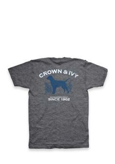 Crown & Ivy™ Men's Big And Tall Earnest Hound Short Sleeve Tee - Charcoal Heather - 2Xlt