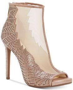 14f7a9bc90f1b0 Jessica Simpson Radko Mesh Shooties Shoes - Boots - Macy s.  StöckelschuheHochzeitsschuheNetzGoldModeSchuh Stiefel