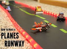 How to Make a Disney Planes Runway for your child out of budget-friendly DIY materials! #PlanesToTheRescue #ad