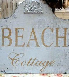 Beach Cottage sign