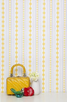 Love the wallpaper!    http://www.kimberlylewishome.com/product/striped
