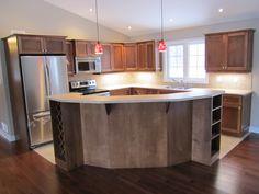 Kitchen layout, L shape floor plan
