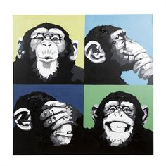 Clearance   Nood   Furniture   Home Decor   Homewares - chimps canvas