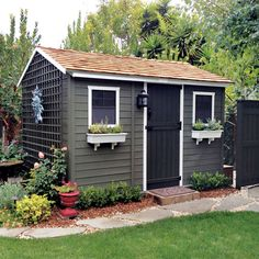A Cabin Shed Painted