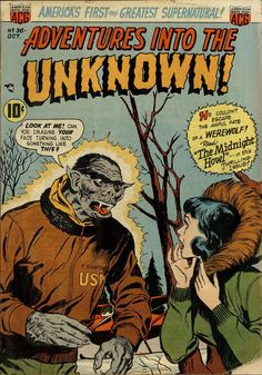 Comic Book Cover For Adventures into the Unknown #36