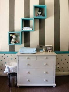 Dots and Stripes 5 ~ cute idea with stripes & dots & wall