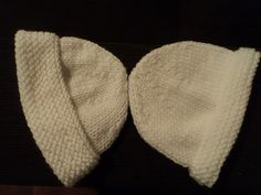 ARTES DA RITTA: Touca em Lã para Bebê
