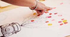 Wedding Guest Poster - Esküvői ujjlenyomatos emlék plakát Graphic/Grafika: Wedding Design