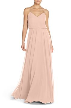 Quot Blake Quot Dress By Jenny Yoo In Whipped Apricot Crepe De