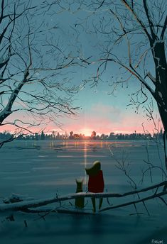 Moments of Clarity, Pascal Campion, digital, 2018 : Art Whats Wallpaper, Pascal Campion, Anime Scenery, Aesthetic Art, Cartoon Art, Cute Art, Art Girl, Amazing Art, Fantasy Art