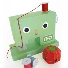 Happy Sewing Machine and Friends Printable Paper di FantasticToys