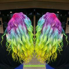 Pravana Vivids Locked In Rainbow Hair Color wavy