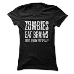 Zombies Eat Brains T-Shirt - #gifts for boyfriend #gift for girlfriend. TRY => https://www.sunfrog.com/Zombies/Zombies-Eat-Brains-T-Shirt-Ladies.html?68278